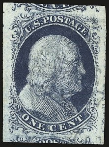 Sale Number 973, Lot Number 31, 1851-56 Issue1c Blue, Ty. II (7), 1c Blue, Ty. II (7)