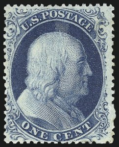 Sale Number 973, Lot Number 46, 1857-60 Issue1c Blue, Ty. III (21), 1c Blue, Ty. III (21)