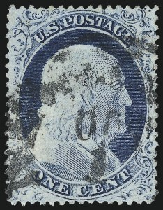 Sale Number 973, Lot Number 47, 1857-60 Issue1c Blue, Ty. IV (23), 1c Blue, Ty. IV (23)