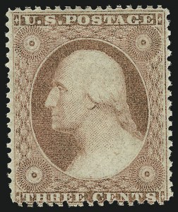 Sale Number 973, Lot Number 48, 1857-60 Issue3c Rose, Ty. I (25), 3c Rose, Ty. I (25)