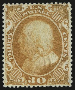 Sale Number 973, Lot Number 57, 1857-60 Issue30c Orange (38), 30c Orange (38)