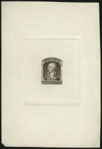 Sale Number 973, Lot Number 58, 1857-60 Issue90c Sepia, Large Die Trial Color Proof on India (39TC1), 90c Sepia, Large Die Trial Color Proof on India (39TC1)