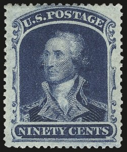 Sale Number 973, Lot Number 59, 1857-60 Issue90c Blue (39), 90c Blue (39)