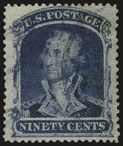 Sale Number 973, Lot Number 60, 1857-60 Issue90c Blue (39), 90c Blue (39)