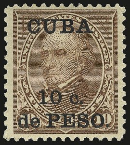 Sale Number 974, Lot Number 784, Cuba1900, 10c on 10c Brown, Ty. II (226A), 1900, 10c on 10c Brown, Ty. II (226A)