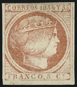 Sale Number 974, Lot Number 840, Philippines1855, 5c Vermilion, Redrawn (7), 1855, 5c Vermilion, Redrawn (7)
