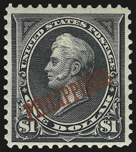 Sale Number 974, Lot Number 848, Philippines1901, $1.00 Black, Ty. II (223A), 1901, $1.00 Black, Ty. II (223A)