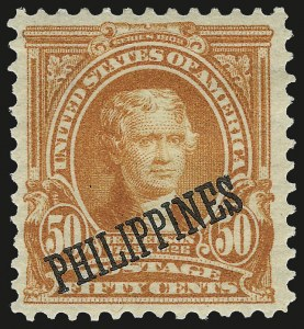 Sale Number 974, Lot Number 850, Philippines1903-04, 1c-50c Ovpts. (226-236), 1903-04, 1c-50c Ovpts. (226-236)