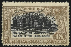 Sale Number 974, Lot Number 861, Philippines1926, 18c Light Brown & Black, Double Impression of Center (322a), 1926, 18c Light Brown & Black, Double Impression of Center (322a)