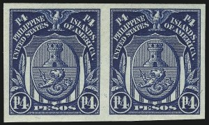 Sale Number 974, Lot Number 862, Philippines1925, 4p Deep Blue, Imperforate (352a), 1925, 4p Deep Blue, Imperforate (352a)