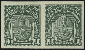 Sale Number 974, Lot Number 863, Philippines1931, 10p Green, Imperforate (353), 1931, 10p Green, Imperforate (353)
