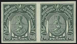 Sale Number 974, Lot Number 864, Philippines1931, 10p Green, Imperforate (353), 1931, 10p Green, Imperforate (353)