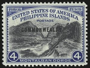 Sale Number 974, Lot Number 866, Philippines1940, 4p Montalban Gorge (445), 1940, 4p Montalban Gorge (445)