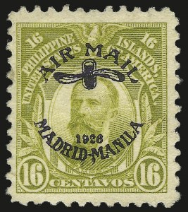 Sale Number 974, Lot Number 868, Philippines1926, 16c Light Olive Green, Violet Overprint (C7), 1926, 16c Light Olive Green, Violet Overprint (C7)