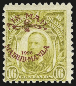Sale Number 974, Lot Number 869, Philippines1926, 16c Olive Bister, Air Post (C8), 1926, 16c Olive Bister, Air Post (C8)