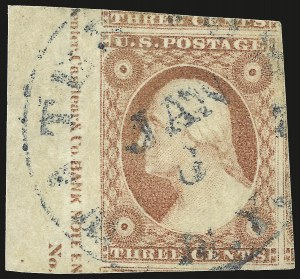 Sale Number 975, Lot Number 1132, 1851-56 Issue (Scott 5-17)3c Dull Red, Ty. II (11A), 3c Dull Red, Ty. II (11A)