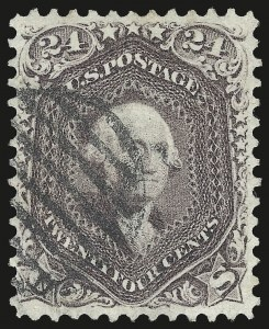 Sale Number 975, Lot Number 1266, 1861-66 Issue (Scott 56-78)24c Red Lilac (70), 24c Red Lilac (70)