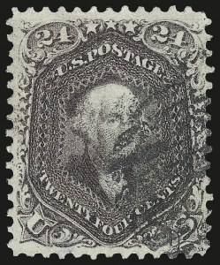 Sale Number 975, Lot Number 1267, 1861-66 Issue (Scott 56-78)24c Red Lilac (70), 24c Red Lilac (70)