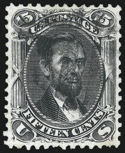 Sale Number 975, Lot Number 1280, 1861-66 Issue (Scott 56-78)15c Black (77), 15c Black (77)