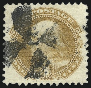 Sale Number 975, Lot Number 1333, 1869 Pictorial Issue (Scott 112-122)1c Buff (112), 1c Buff (112)