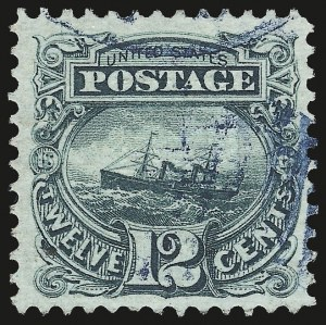 Sale Number 975, Lot Number 1355, 1869 Pictorial Issue (Scott 112-122)12c Green (117), 12c Green (117)