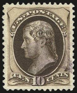 Sale Number 975, Lot Number 1427, 1875-79 Continental and American Bank Note Co. Issues (Scott 178-191)10c Brown, With Secret Mark (188), 10c Brown, With Secret Mark (188)