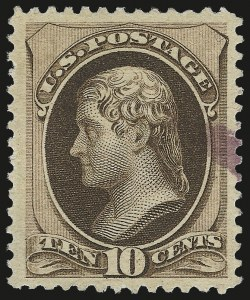 Sale Number 975, Lot Number 1428, 1875-79 Continental and American Bank Note Co. Issues (Scott 178-191)10c Brown, With Secret Mark (188), 10c Brown, With Secret Mark (188)