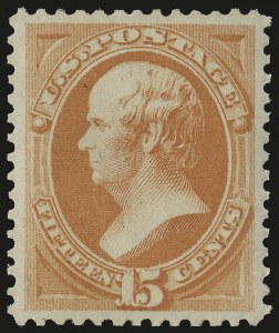Sale Number 975, Lot Number 1429, 1875-79 Continental and American Bank Note Co. Issues (Scott 178-191)15c Red Orange (189), 15c Red Orange (189)