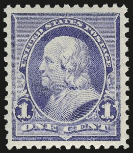 Sale Number 975, Lot Number 1456, 1890-93 Issue (Scott 219-229)1c Dull Blue (219), 1c Dull Blue (219)