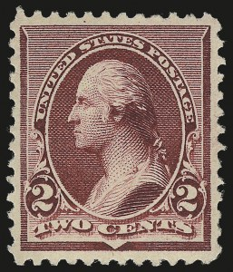 Sale Number 975, Lot Number 1457, 1890-93 Issue (Scott 219-229)2c Lake (219D), 2c Lake (219D)