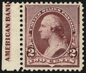 Sale Number 975, Lot Number 1458, 1890-93 Issue (Scott 219-229)2c Lake (219D), 2c Lake (219D)