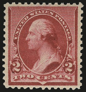 "Sale Number 975, Lot Number 1462, 1890-93 Issue (Scott 219-229)2c Carmine, Cap on Left ""2"" (220a), 2c Carmine, Cap on Left ""2"" (220a)"