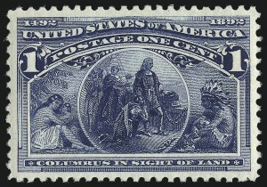 Sale Number 975, Lot Number 1474, 1893 Columbian Issue (1c thru 8c, Scott 230-236)1c Columbian (230), 1c Columbian (230)