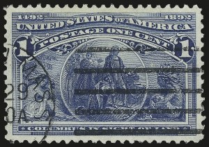 Sale Number 975, Lot Number 1478, 1893 Columbian Issue (1c thru 8c, Scott 230-236)1c Columbian (230), 1c Columbian (230)