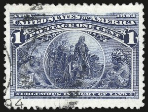 Sale Number 975, Lot Number 1479, 1893 Columbian Issue (1c thru 8c, Scott 230-236)1c Columbian (230), 1c Columbian (230)