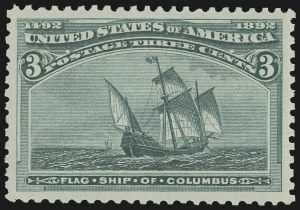 Sale Number 975, Lot Number 1485, 1893 Columbian Issue (1c thru 8c, Scott 230-236)3c Columbian (232), 3c Columbian (232)