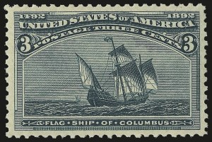 Sale Number 975, Lot Number 1487, 1893 Columbian Issue (1c thru 8c, Scott 230-236)3c Columbian (232), 3c Columbian (232)