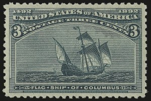 Sale Number 975, Lot Number 1488, 1893 Columbian Issue (1c thru 8c, Scott 230-236)3c Columbian (232), 3c Columbian (232)