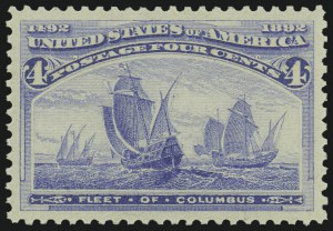 Sale Number 975, Lot Number 1492, 1893 Columbian Issue (1c thru 8c, Scott 230-236)4c Columbian (233), 4c Columbian (233)