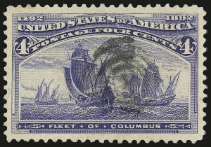 Sale Number 975, Lot Number 1495, 1893 Columbian Issue (1c thru 8c, Scott 230-236)4c Columbian (233), 4c Columbian (233)