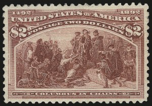 Sale Number 975, Lot Number 1536, 1893 Columbian Issue ($2.00 thru $5.00, Scott 242-245)$2.00 Columbian (242), $2.00 Columbian (242)