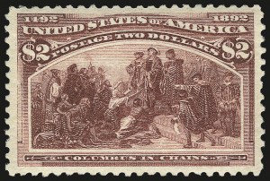 Sale Number 975, Lot Number 1537, 1893 Columbian Issue ($2.00 thru $5.00, Scott 242-245)$2.00 Columbian (242), $2.00 Columbian (242)