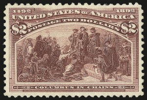 Sale Number 975, Lot Number 1538, 1893 Columbian Issue ($2.00 thru $5.00, Scott 242-245)$2.00 Columbian (242), $2.00 Columbian (242)