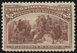 Sale Number 975, Lot Number 1539, 1893 Columbian Issue ($2.00 thru $5.00, Scott 242-245)$2.00 Columbian (242), $2.00 Columbian (242)