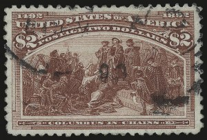 Sale Number 975, Lot Number 1540, 1893 Columbian Issue ($2.00 thru $5.00, Scott 242-245)$2.00 Columbian (242), $2.00 Columbian (242)