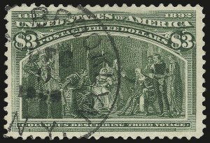 Sale Number 975, Lot Number 1545, 1893 Columbian Issue ($2.00 thru $5.00, Scott 242-245)$3.00 Columbian (243), $3.00 Columbian (243)