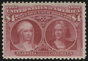 Sale Number 975, Lot Number 1546, 1893 Columbian Issue ($2.00 thru $5.00, Scott 242-245)$4.00 Columbian (244), $4.00 Columbian (244)