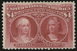Sale Number 975, Lot Number 1547, 1893 Columbian Issue ($2.00 thru $5.00, Scott 242-245)$4.00 Columbian (244), $4.00 Columbian (244)