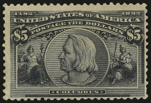 Sale Number 975, Lot Number 1551, 1893 Columbian Issue ($2.00 thru $5.00, Scott 242-245)$5.00 Columbian (245), $5.00 Columbian (245)