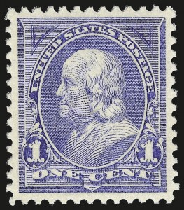 Sale Number 975, Lot Number 1553, 1894 Unwatermarked Bureau Issue (Scott 246-263)1c Ultramarine (246), 1c Ultramarine (246)
